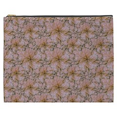 Nature Collage Print Cosmetic Bag (xxxl)  by dflcprints