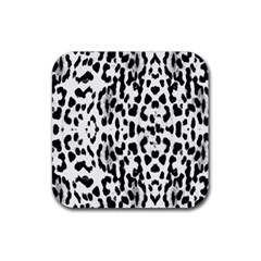 Animal Print Rubber Square Coaster (4 Pack)  by Valentinaart