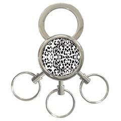 Animal Print 3 Ring Key Chains by Valentinaart