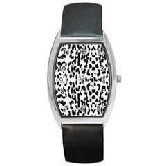 Animal Print Barrel Style Metal Watch by Valentinaart