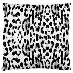 Animal Print Large Flano Cushion Case (two Sides) by Valentinaart