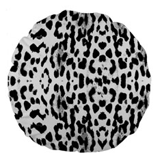 Animal Print Large 18  Premium Flano Round Cushions by Valentinaart