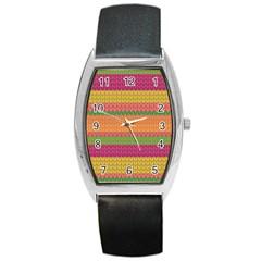 Pattern Barrel Style Metal Watch by Valentinaart