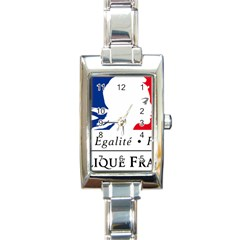 Symbol Of The French Government Rectangle Italian Charm Watch by abbeyz71