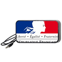 Symbol Of The French Government Portable Speaker (black) by abbeyz71
