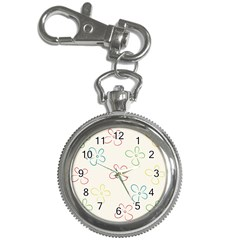 Flower Background Nature Floral Key Chain Watches by Simbadda