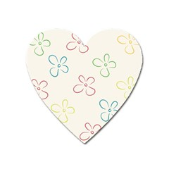 Flower Background Nature Floral Heart Magnet by Simbadda