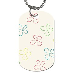 Flower Background Nature Floral Dog Tag (two Sides) by Simbadda