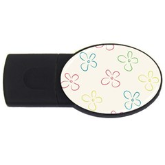 Flower Background Nature Floral Usb Flash Drive Oval (2 Gb) by Simbadda