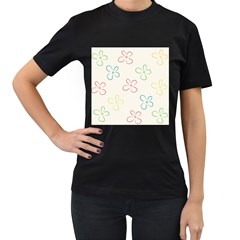 Flower Background Nature Floral Women s T Shirt (black) (two Sided) by Simbadda
