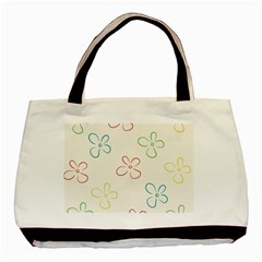 Flower Background Nature Floral Basic Tote Bag by Simbadda