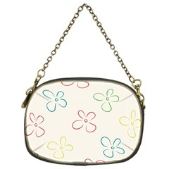 Flower Background Nature Floral Chain Purses (one Side)  by Simbadda