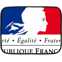 Symbol Of The French Government Fleece Blanket (mini) by abbeyz71