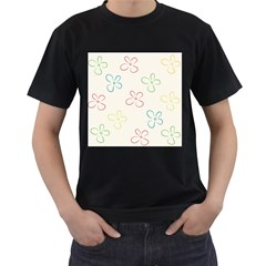 Flower Background Nature Floral Men s T Shirt (black) by Simbadda