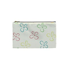 Flower Background Nature Floral Cosmetic Bag (small)  by Simbadda