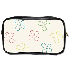 Flower Background Nature Floral Toiletries Bags by Simbadda