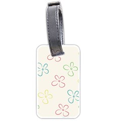 Flower Background Nature Floral Luggage Tags (one Side)  by Simbadda