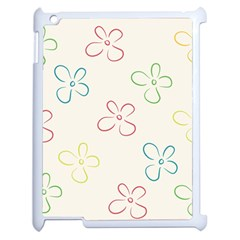 Flower Background Nature Floral Apple Ipad 2 Case (white) by Simbadda