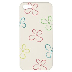 Flower Background Nature Floral Apple Iphone 5 Hardshell Case by Simbadda