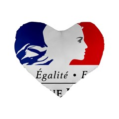 Symbol Of The French Government Standard 16  Premium Heart Shape Cushions by abbeyz71