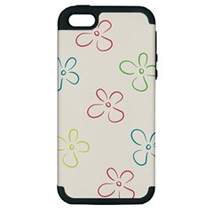 Flower Background Nature Floral Apple Iphone 5 Hardshell Case (pc+silicone) by Simbadda