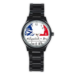 Symbol Of The French Government Stainless Steel Round Watch by abbeyz71