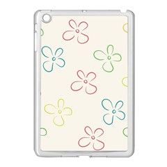 Flower Background Nature Floral Apple Ipad Mini Case (white) by Simbadda