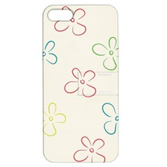 Flower Background Nature Floral Apple Iphone 5 Hardshell Case With Stand by Simbadda