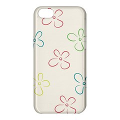 Flower Background Nature Floral Apple Iphone 5c Hardshell Case by Simbadda