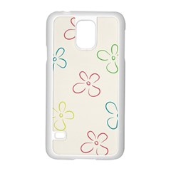 Flower Background Nature Floral Samsung Galaxy S5 Case (white) by Simbadda