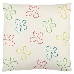 Flower Background Nature Floral Large Flano Cushion Case (one Side) by Simbadda