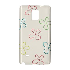 Flower Background Nature Floral Samsung Galaxy Note 4 Hardshell Case by Simbadda