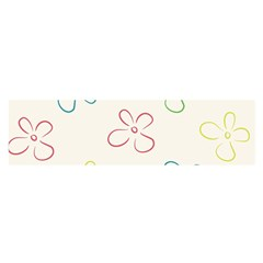 Flower Background Nature Floral Satin Scarf (oblong) by Simbadda