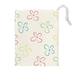 Flower Background Nature Floral Drawstring Pouches (extra Large) by Simbadda