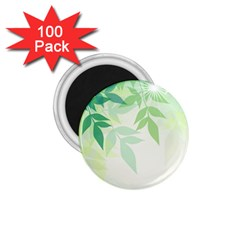 Spring Leaves Nature Light 1 75  Magnets (100 Pack)  by Simbadda