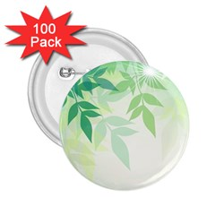 Spring Leaves Nature Light 2 25  Buttons (100 Pack)  by Simbadda