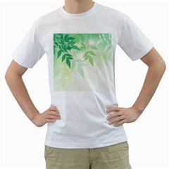 Spring Leaves Nature Light Men s T Shirt (white) (two Sided) by Simbadda