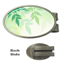 Spring Leaves Nature Light Money Clips (oval)  by Simbadda