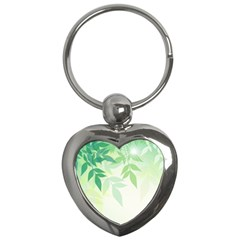 Spring Leaves Nature Light Key Chains (heart)  by Simbadda