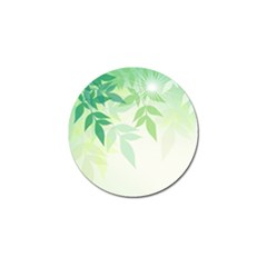 Spring Leaves Nature Light Golf Ball Marker by Simbadda