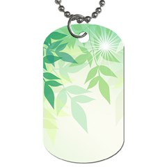 Spring Leaves Nature Light Dog Tag (two Sides) by Simbadda