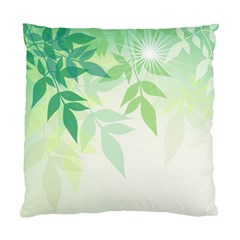 Spring Leaves Nature Light Standard Cushion Case (one Side) by Simbadda