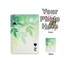 Spring Leaves Nature Light Playing Cards 54 (mini)  by Simbadda