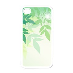 Spring Leaves Nature Light Apple Iphone 4 Case (white) by Simbadda