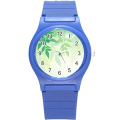 Spring Leaves Nature Light Round Plastic Sport Watch (s) by Simbadda