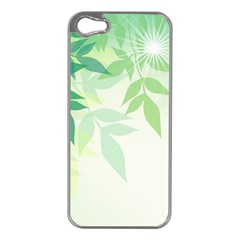 Spring Leaves Nature Light Apple Iphone 5 Case (silver) by Simbadda