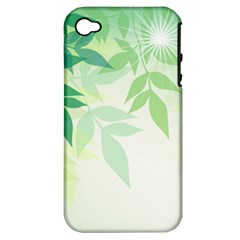 Spring Leaves Nature Light Apple Iphone 4/4s Hardshell Case (pc+silicone) by Simbadda