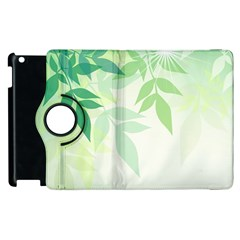 Spring Leaves Nature Light Apple Ipad 2 Flip 360 Case by Simbadda