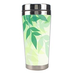 Spring Leaves Nature Light Stainless Steel Travel Tumblers by Simbadda