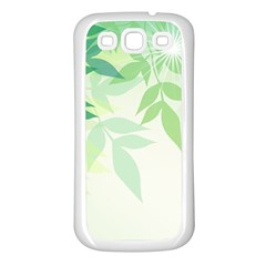 Spring Leaves Nature Light Samsung Galaxy S3 Back Case (white) by Simbadda